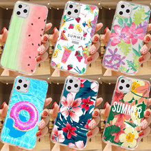 цена на Cute Floral Fruit summer beach Sea Ice Cream Phone Case For iPhone 11 pro XR X XS MAX 7 6S 8 Plus SE 5S Silicone Soft TPU Cover