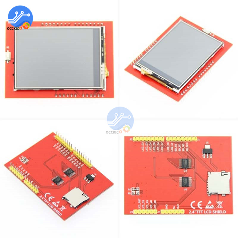 2 4 Inch TFT Touch LCD Screen Module 320X240 RGB Full Color Display Shield  8-bit Parallel Interface For Arduino UNO Mega2560 (Best Discount Black