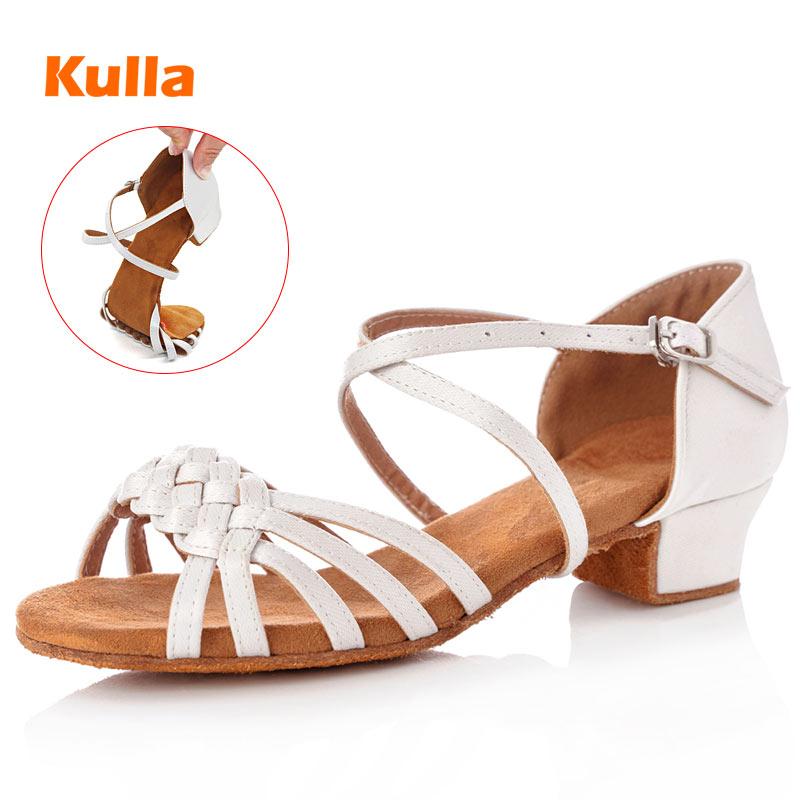 Latin Dance Shoes Children Girls Salsa Shoes Low Heel Kids Women Tango Ballroom Dancing Shoes Wholesale Zapatos Baile Latino