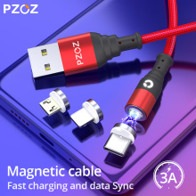 PZOZ Magnetic Cable Micro USB Type C Magnet usb c Fast Charging Type-c Charger Microusb For iphone 11 8 Mobile Phone Cables Data кабель usb type c microusb a data acm32in1 100cmk cbk 1 м
