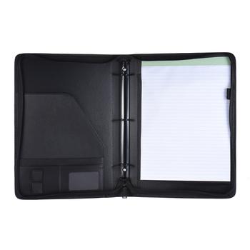 A4 PU skórzany Folder na dokumenty materiały biurowe pokrowiec biznesowy teczka na dokumenty teczka na dokumenty Organizer zapinana na zamek tanie i dobre opinie Skórzane Portfolio