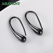 925 Silver Earring Black Teardrop/Water Drop/Raindrop Dangle Earrings For Women Men Fashion Jewelry Gifts 4 Colors