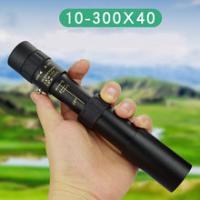 10-300x40mm Monocular Super Zoom Monocular Eyepiece Portable Metal Telescope Hunting Night Vision Goggles Camping