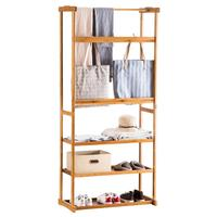 Multi function Triangle Coat Rack Removable Bedroom Hanging Clothes Rack With Wheels Floor Standing Coat Rack Clothes Hanger