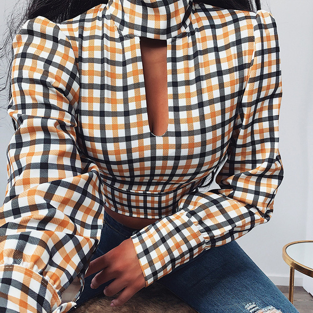 Leopard Turtleneck Satin Silk Women Blouse Hollow Out Backless Shirt Elegant Autumn Long Sleeve Pleated Top
