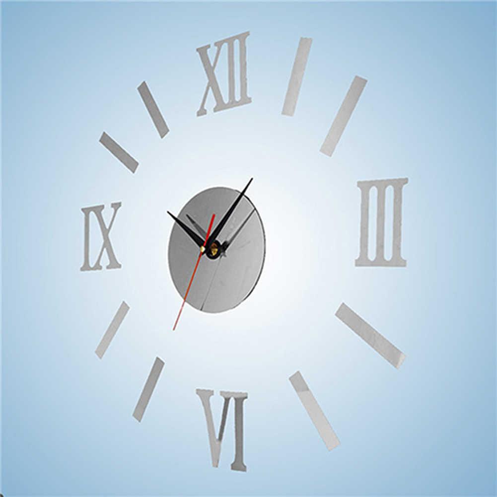 Zegary ścienne DIY 3D lustro akrylowe naklejki ścienne wiszące naklejka-zegar na ścianę do dekoracji salonu Home Decor wiszące zegary