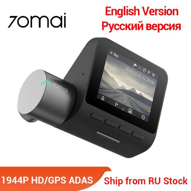 70mai Pro Dash Cam Englisch Voice Control Smart Auto DVR 1944PHD Dash Auto Kamera Parkplatz Monitor 140 FOV Nacht Version