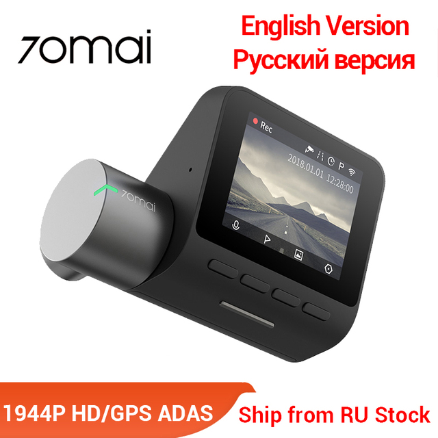 70mai Pro Dash Cam English Voice Control Smart Car DVR 1944PHD Dash Car Camera Parking Monitor 140 FOV Night Version