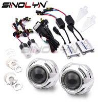 Sinolyn Headlight Lenses Full Kit Bi xenon Lens 3.0 H1 HID Projector For H4 H7 9005 9006 Car Lights Accessories Tuning Style DIY
