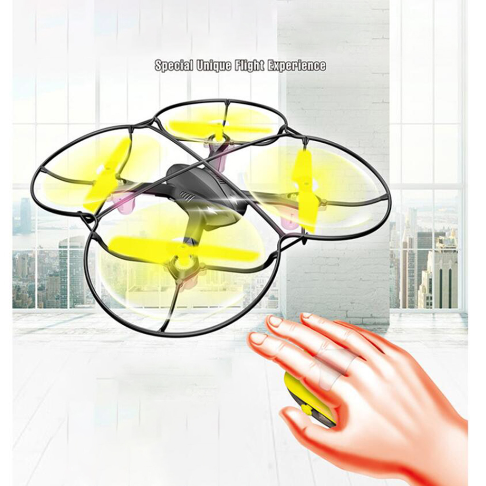 Mini Quadcopter Induction Drone 2.4GHz Smart Mouse Gesture Sensing Control RC Aircraft Airplane Simulator image