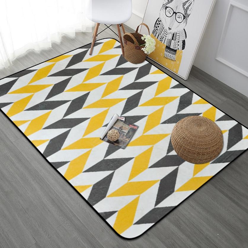 Nouveau tapis géométrique Simple européen salon enfants chambre tapis et tapis ordinateur chaise tapis de sol tapis de vestiaire