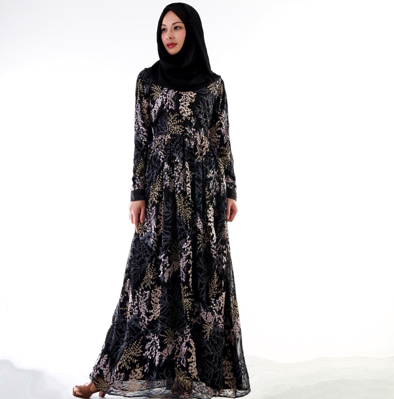 Mode islamique vêtements broderie dentelle grande taille musulman turc robes Abayas pour les femmes Abaya dubaï Hijab robe Caftan SL1152