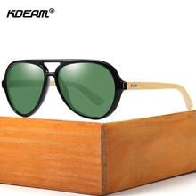 KDEAM Pilot Design Wood Sunglasses Polarized Outdoor Driving Sun Glasses Male Polarization Shades blocks Ultraviolet light