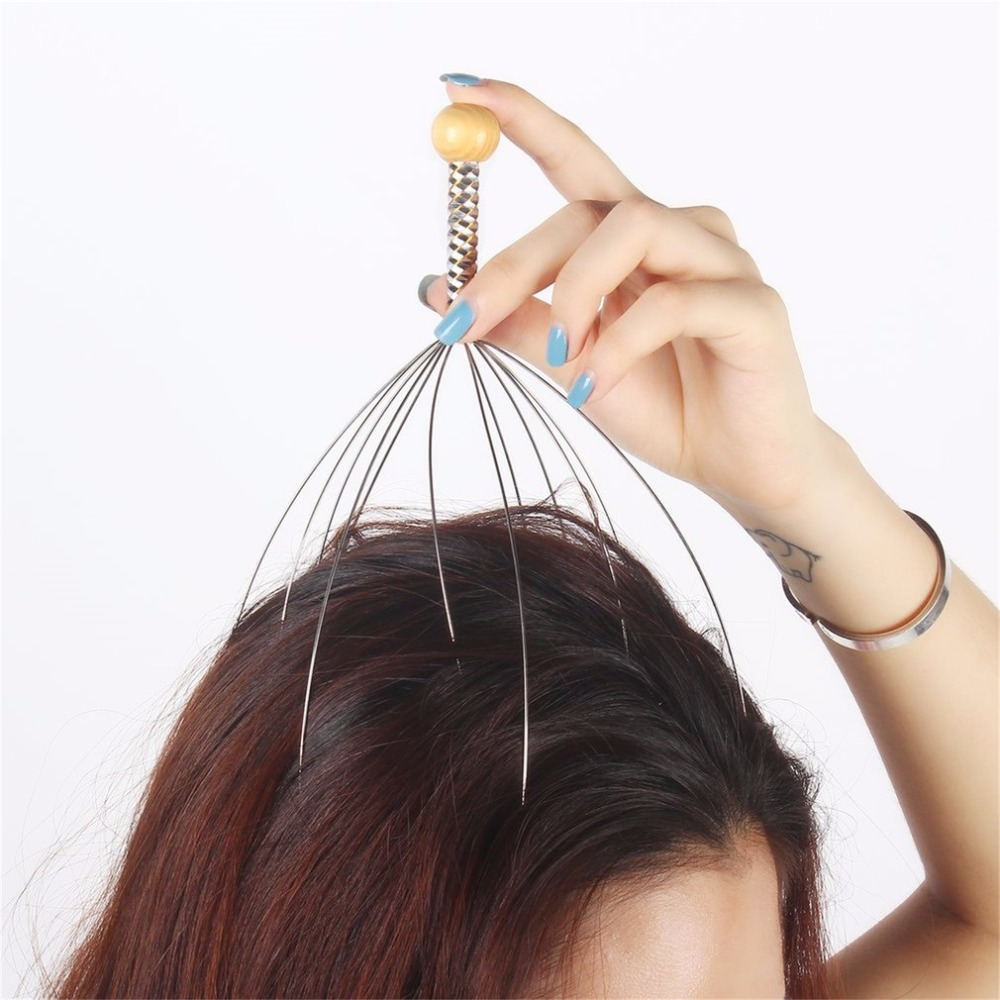 Head Massager 1Pcs Octopus Head Scalp Neck Equipment Stress Release Relax Massage Claw Massager Tens Pain Relief Body Massager