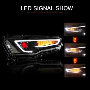 Image 5 - CNSUNNYLIGHT עבור מיצובישי לנסר EVO X 2008 2017 רכב פנס עצרת LED DRL הפעל אות קסנון HID מקרן עדשה תקע לשחק