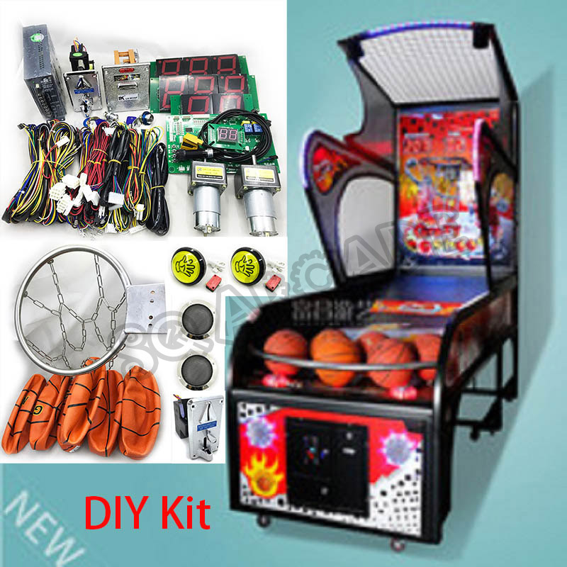 Adult Street Basketball Machine Kits Coin Operated Basketball Games Kits Arcade Shooting Ball Game