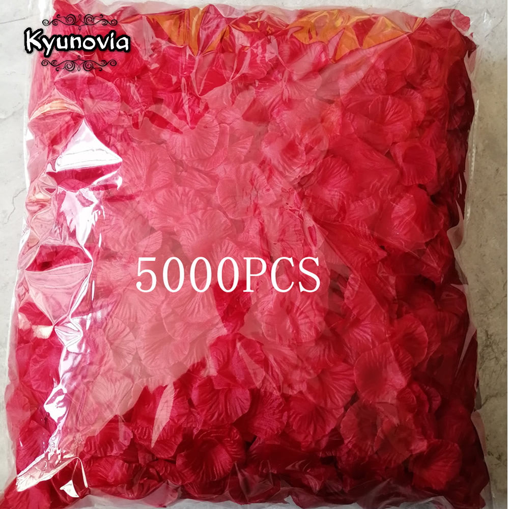 Image 5 - Kyunovia one by one Separated Petal 5000pcs Rose Petals Petalos De Rosa Wedding Decoration Artificial Fabric Wedding Rose PetalsRose Petals   -