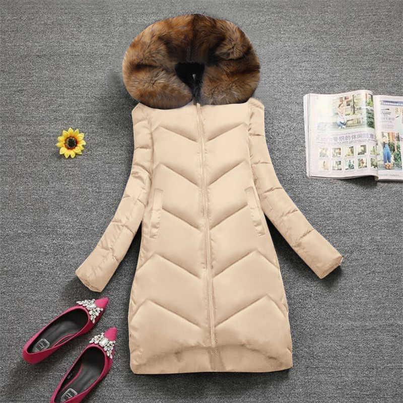 Plus größe 7XL Mode Winter Jacke Frauen Große Pelz Mit Kapuze Dicke Daunen Parkas Weibliche Jacke Mantel Schlank Warme Winter Outwear 2020 neue