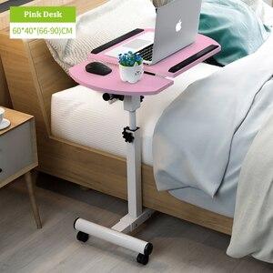 Image 4 - בית מתקפל נייד שולחן מתכוונן לצד שולחן מחשב שולחן מתקפל בית שולחן מחשב נייד מיטת צד מחקר שולחן מטלטלין מיטת שולחן