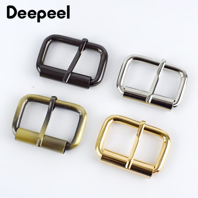 5/10/20pcs 32mm Metal Buckle For Bag Belt Strap Web Adjust Roller Pin Buckle Snap Rectangle Leather Craft Repair DIY Accessories