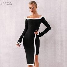 Adyce 2020 новое летнее Бандажное Платье Женское Vestidos сексуальное платье с длинным рукавом и вырезом, платье с открытыми плечами для клуба, вечернее платье знаменитостей