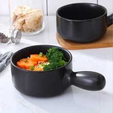Heat-resistant Single Handle Small Casserole Milk Pot Complementary Food Noodle Pan Korean Ceramic Stone Rice