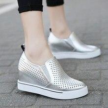 Casual women's shoes, Korean version show thin inside high shoes for women
