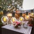 Уличный гирлянда светильник для свадьбы на открытом воздухе светодиодный лампы G40 Глобус строка светильник s Рождественский Декор садовый ...