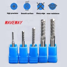 цена на 1/pcs 3.175mm 4mm 6mm Carbide Tungsten Corn Cutter Cutting PCB Milling Bits End Mill CNC Router Bits for Engraving Machine