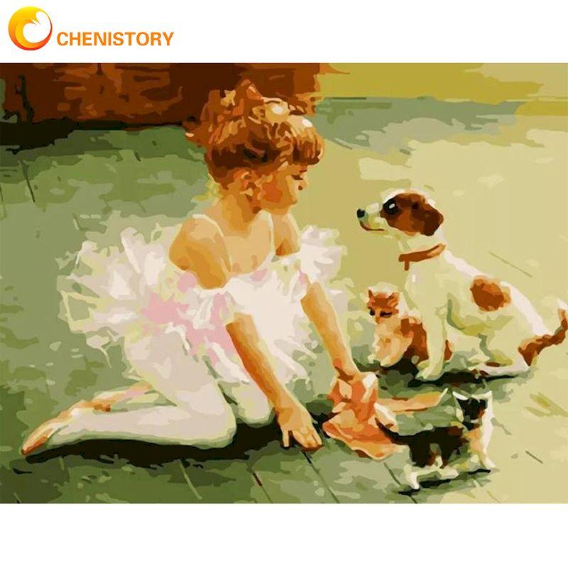 Купить картина по номерам на холсте с изображением маленькой девочки