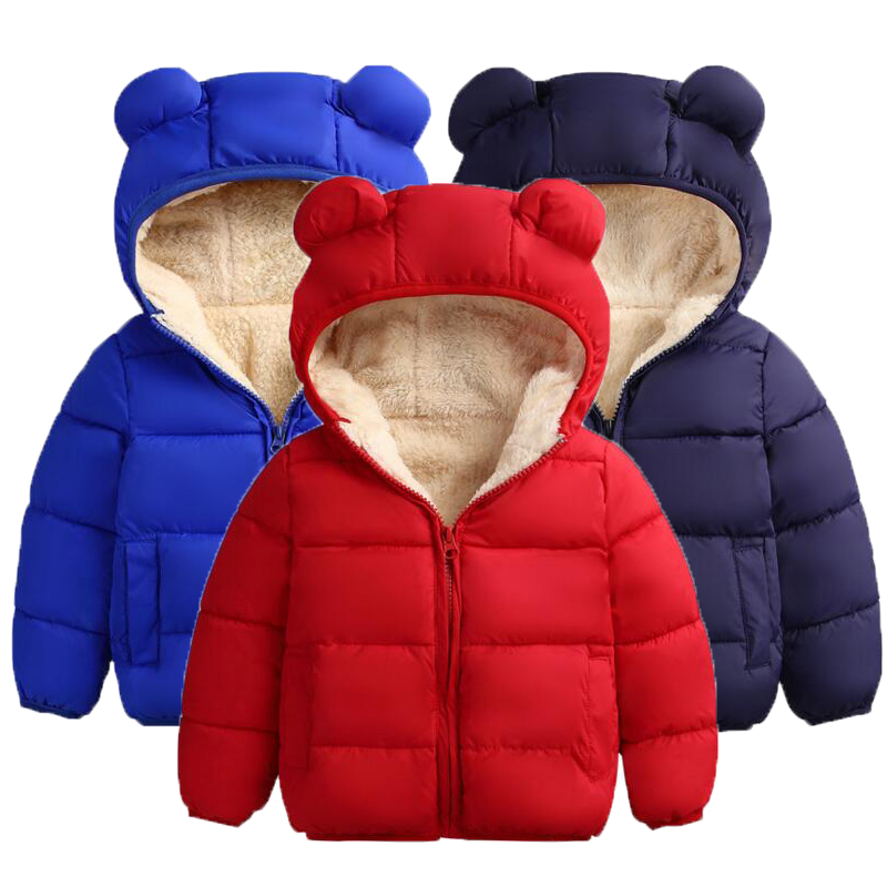 2019 Christmas Warm Winter Baby Girls Boys Fleece Coat Children Clothing Thick Jacket For Girls Coat 1 2 4 6 Years Boys Clothes