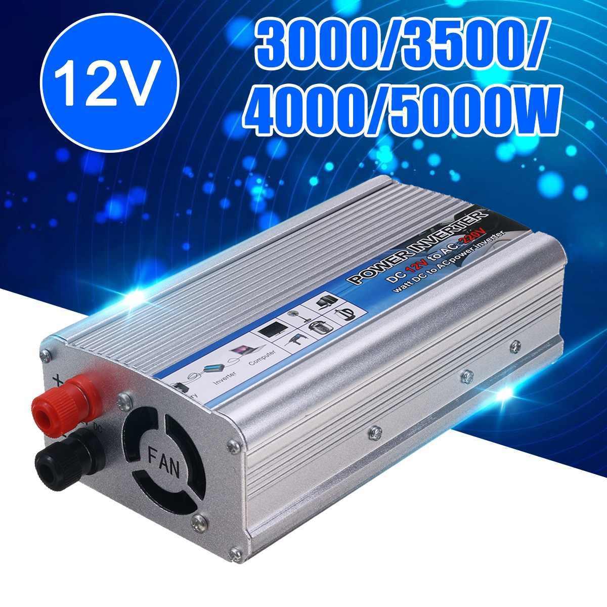 חם 5000W-3000 ואט שמש כוח מהפך DC 12V ל-ac 220V USB שונה סינוס גל ממיר רכב כוח מהפך מטען מתאם