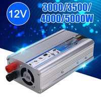 Hot 5000W-3000 Watt di Energia solare Inverter DC 12V a 220V AC USB Onda Sinusoidale Modificata Convertitore di Alimentazione Per Auto inverter Adattatore del Caricatore