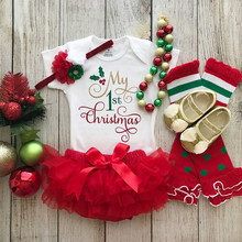 Baby Girl Clothes My 1st Christmas Outfit Set