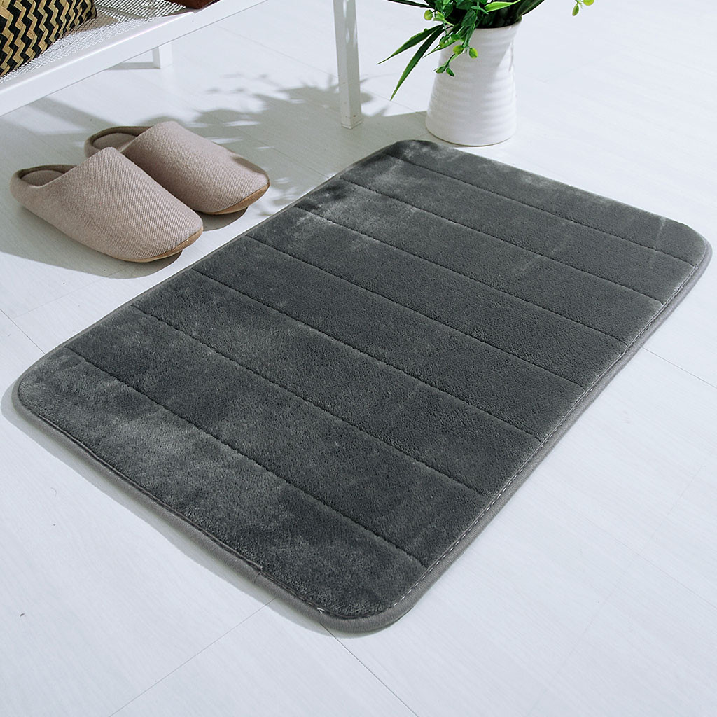US $1.4 46% OFF|Absorbent Soft Memory Foam Mat Bath Super Soft Plush  Bathroom Floor Shower Rug 40x60cm Kitchen Carpet Decor Home Textile on  AliExpress