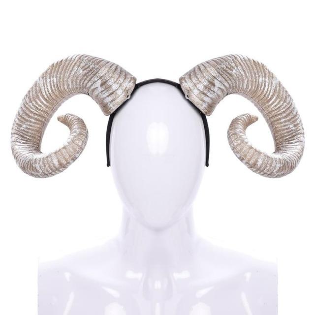 Retail Halloween Carnival Party Hair Hoop PU Foam Horns Headband Banda Para El Cabello for Adults