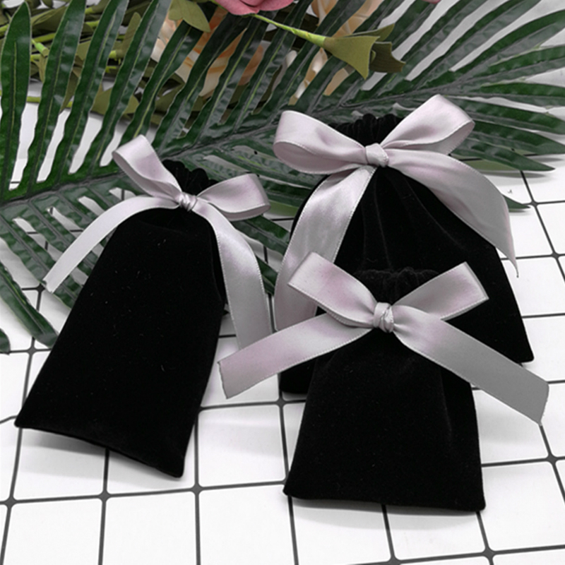 5 шт., фланелевые Бархатные Мешочки для упаковки ювелирных изделий