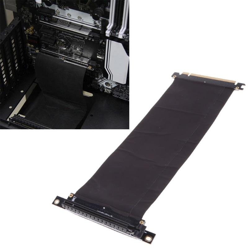 PCI Express PCIe3.0 16X до 16X гибкий удлинитель кабеля, переходник с углом 90 градусов, высокоскоростной удлинитель, карта расширения