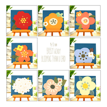 1pcs/lot Flower Series Small Blank Greeting Card With Letter Envelope Holiday Message Gift Card Birthday Party Invitation 10pcs lot handmade single page paper greeting card birthday party invitation with blank inner page gift card