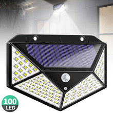 цена на 100 LED Solar Light Outdoor Solar Lamp with PIR Motion Sensor Solar Powered Waterproof Wall Light for Garden Path Decoration
