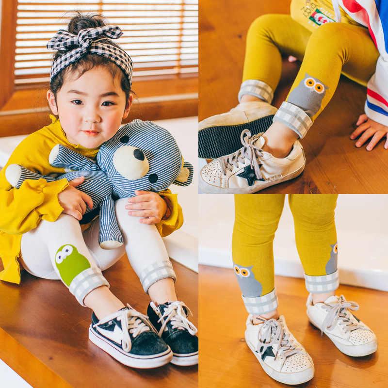 Chaussettes pour enfants 2018 printemps corée du sud nouveau Style Leggings pour enfants filles Plaid vis Type Capri pantalon dessin animé patypipe