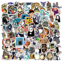 10/50/100Pcs/Set Miyazaki Hayao Anime Stickers Cartoon Graffiti Stickers for DIY Luggage Laptop Refrigerator Motorcycle Sticker