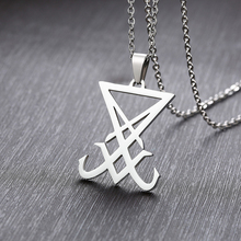 Sigil Of Lucifer Men Satanic Necklace The Seal Of Satan Pendant Silver Gold Blac