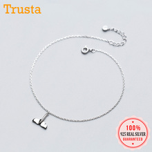 Sweet Real-Sterling-Silver Anklets Jewelry Women Anti-Allergy for Girl 100%925-Solid