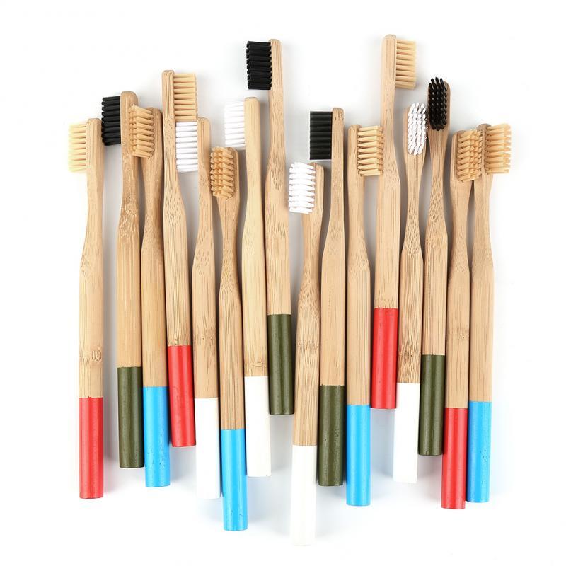 Зубная щетка с мягкой щетиной, Экологически чистая деревянная зубная щетка для ухода за полостью рта, 4/2/1 шт.