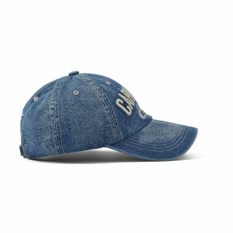 ที่ดีที่สุดคุณภาพยี่ห้อ Boating หมวกสำหรับชายและหญิงหมวก Snapback เบสบอลหมวก Retro DENIM หมวกกีฬากลางแจ้งหมวก