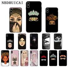 NBDRUICAI Ottwn Arabic Hijab Girl Queen Crown Silicone Phone Case Cover for iPhone 11 pro XS MAX 8 7 6 6S Plus X 5 5S SE XR case nbdruicai ottwn arabic hijab girl queen crown silicone phone case cover for iphone 11 pro xs max 8 7 6 6s plus x 5 5s se xr case