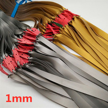 3/6pcs 1mm Thickness Flat Rubber Band  for  Slingshot Hunting Catapult Natural Latex Flat Elastic Resilient for Shooting