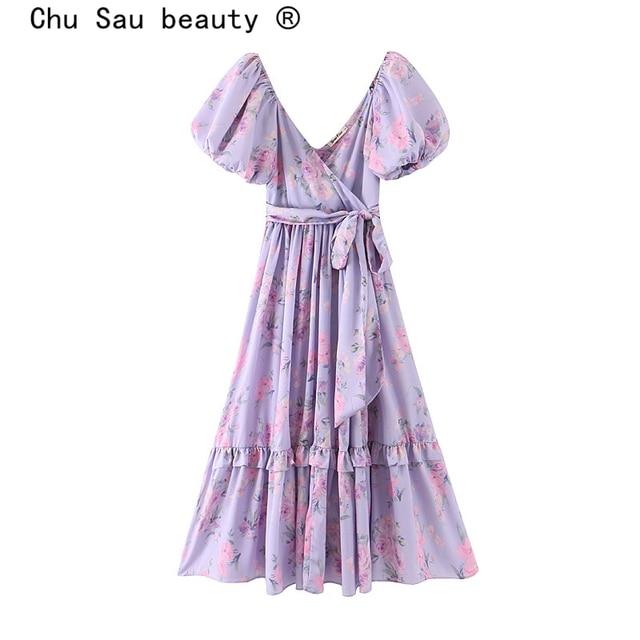 soft and ruffled puff sleeve dress 1