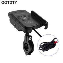 Waterdichte 12V Motorfiets Telefoon Qi Snelle Opladen Draadloze Oplader Beugel Houder Stand Voor Iphone Xs Max Xr X 8 Samsung